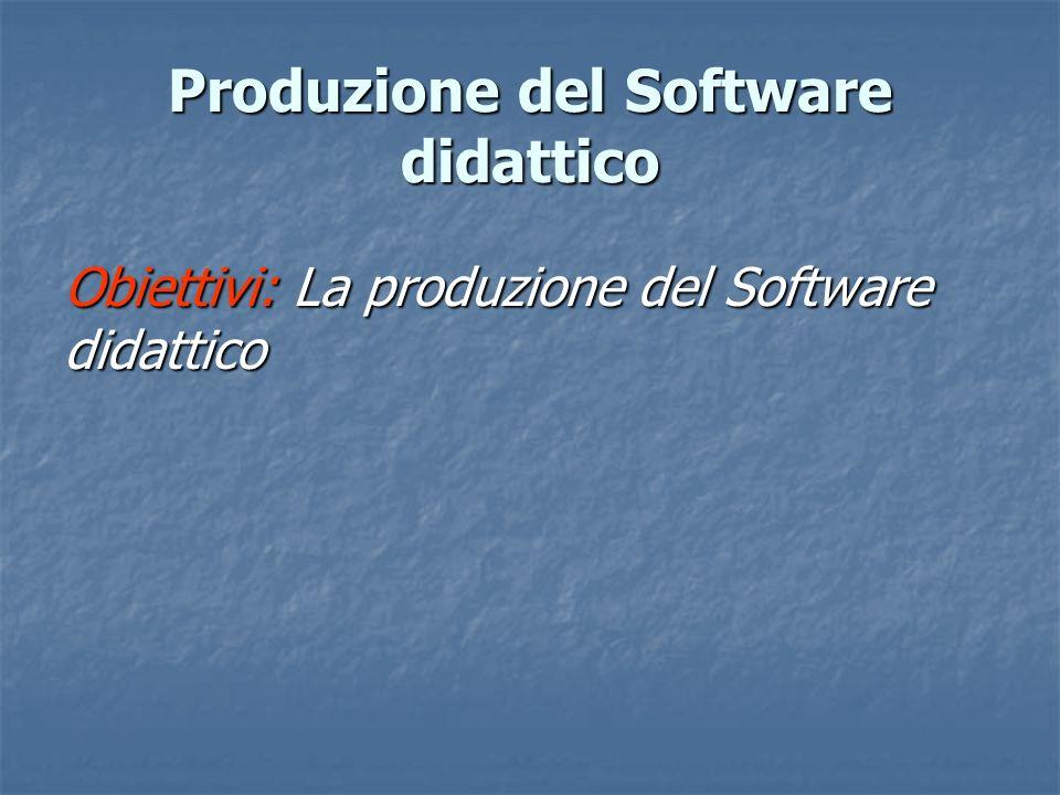 Produzione del Software didattico