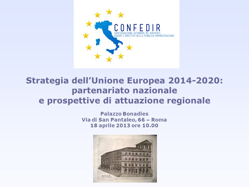 Strategia dell'Unione Europea 2014-2020: partenariato nazionale