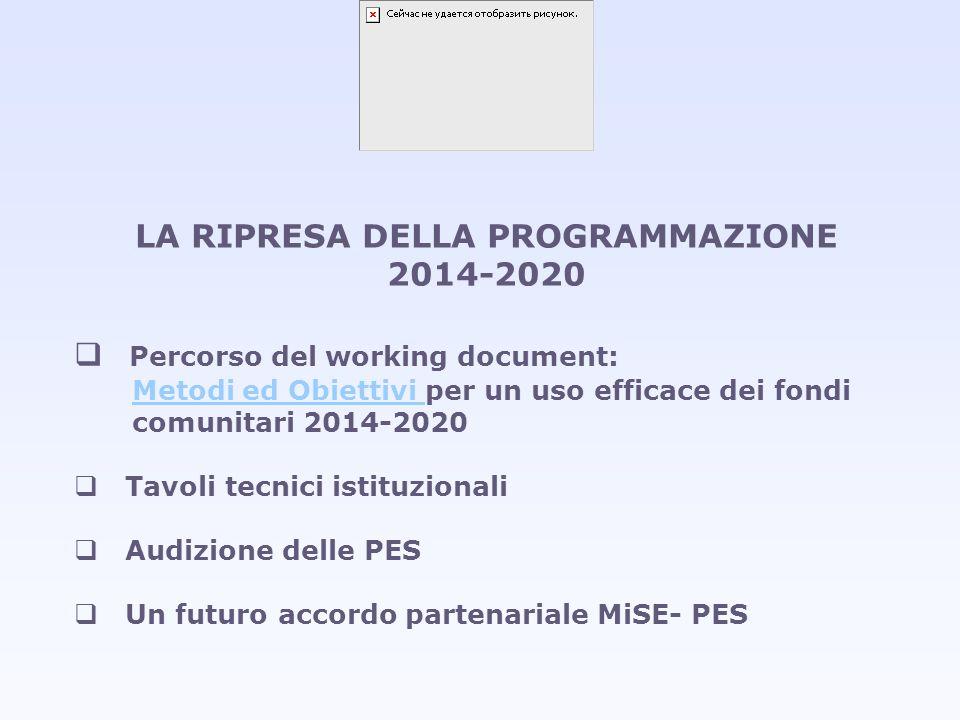 LA RIPRESA DELLA PROGRAMMAZIONE 2014-2020