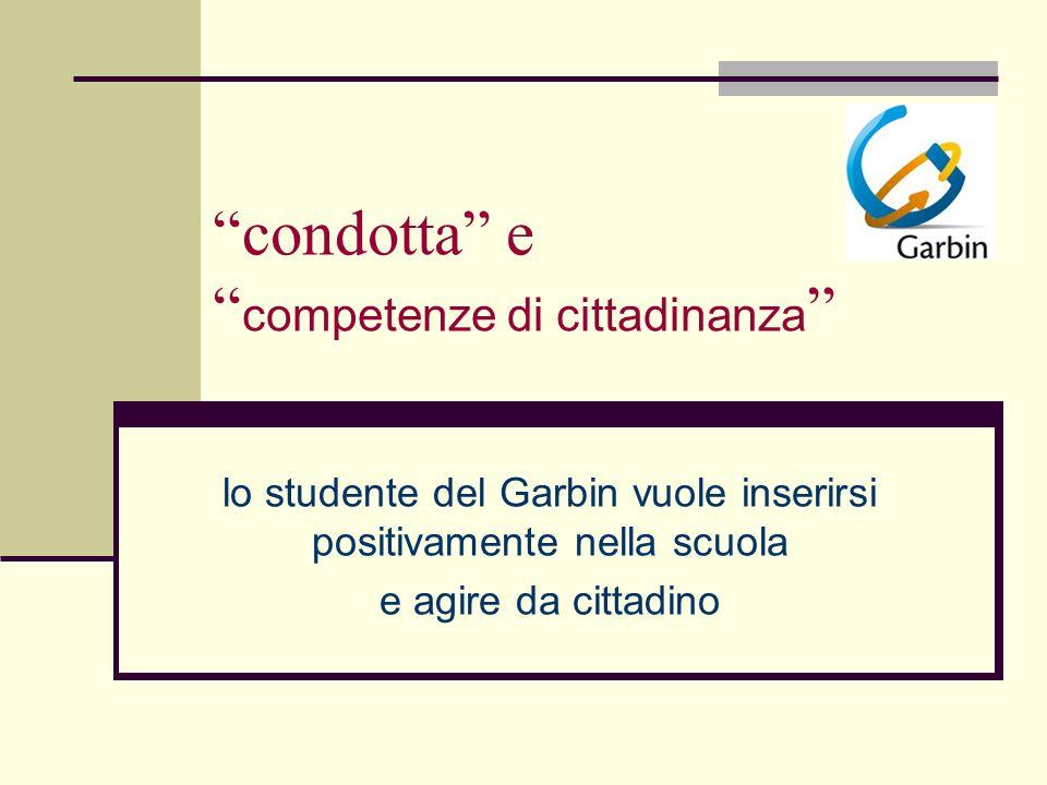 condotta e competenze di cittadinanza