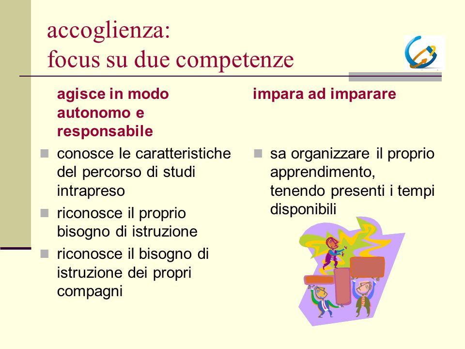 accoglienza: focus su due competenze