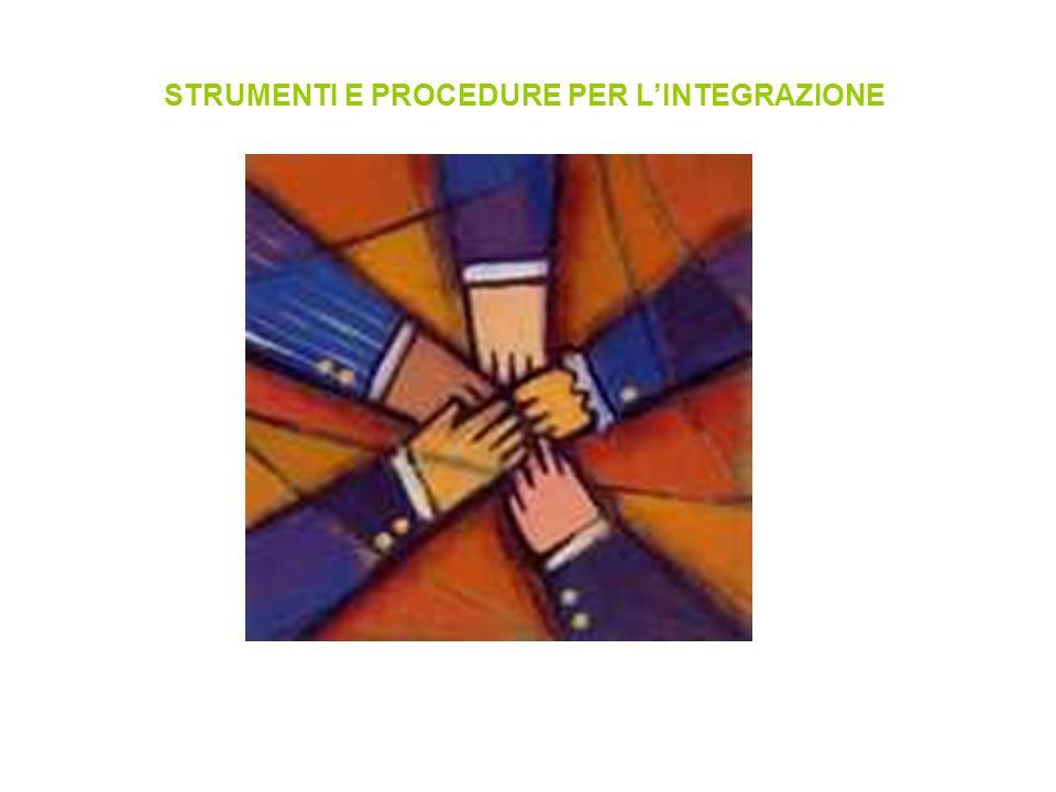 STRUMENTI E PROCEDURE PER L'INTEGRAZIONE