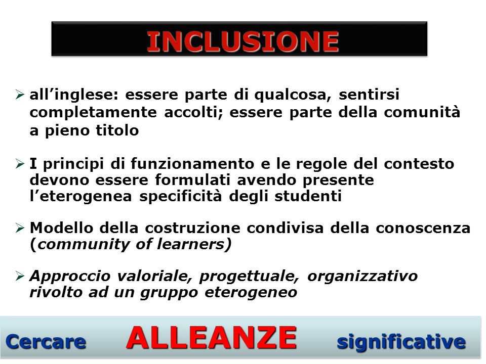 Cercare ALLEANZE significative