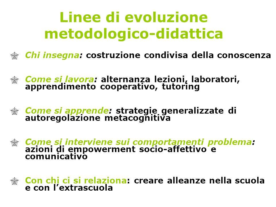 Linee di evoluzione metodologico-didattica