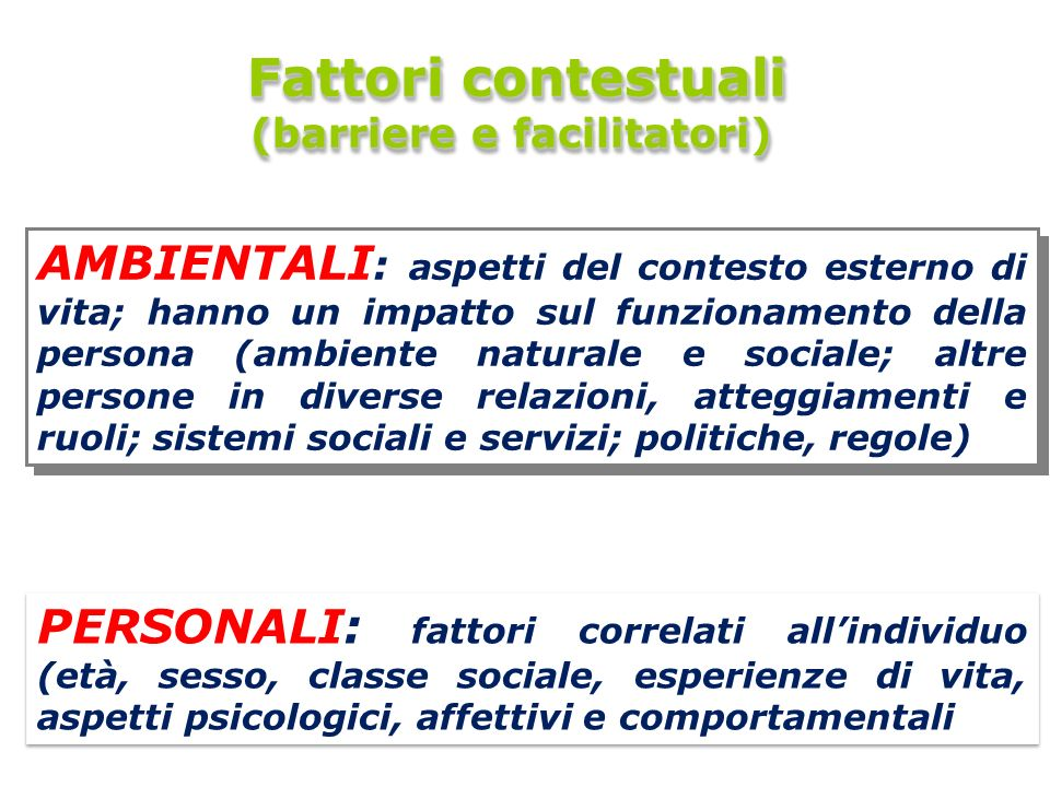 (barriere e facilitatori)
