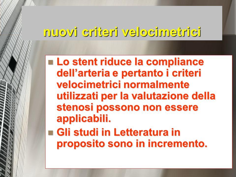 nuovi criteri velocimetrici