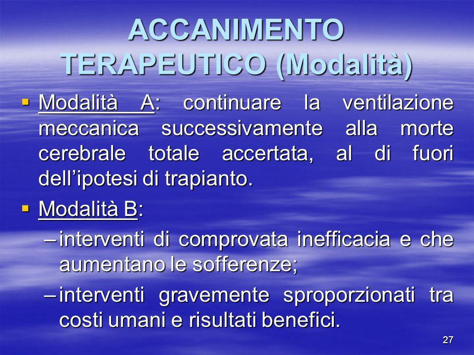 ACCANIMENTO TERAPEUTICO (Modalità)