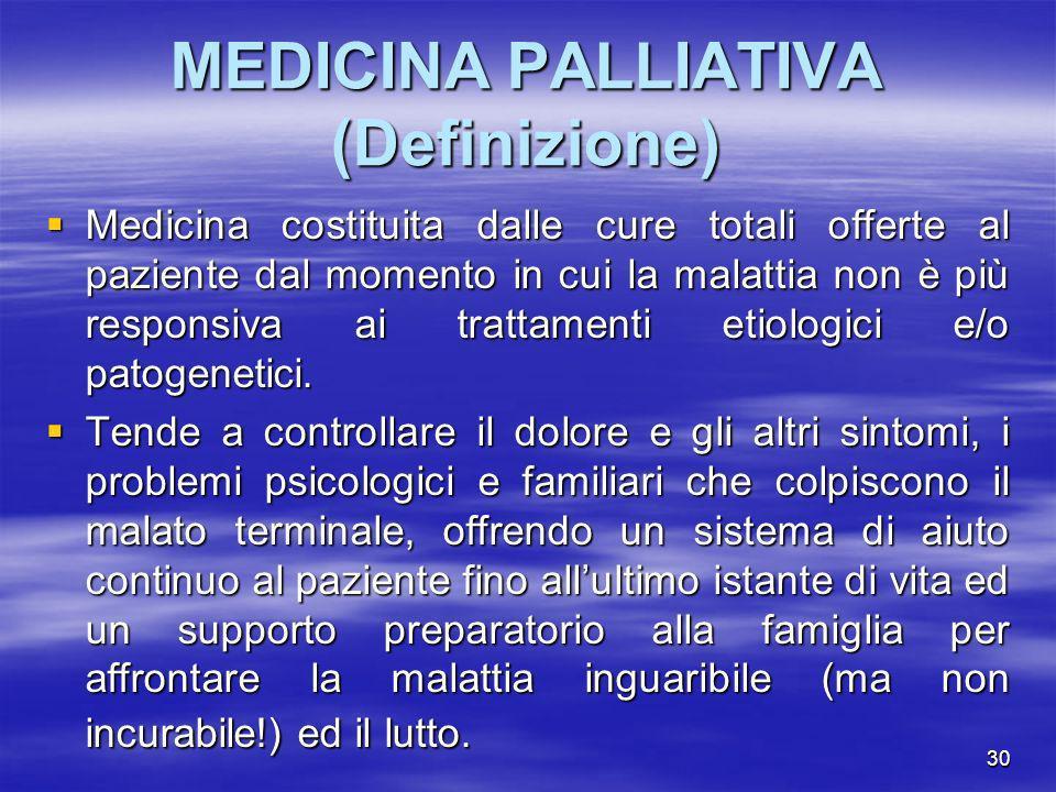 MEDICINA PALLIATIVA (Definizione)