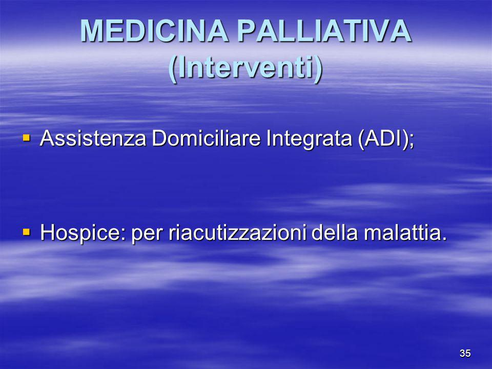 MEDICINA PALLIATIVA (Interventi)