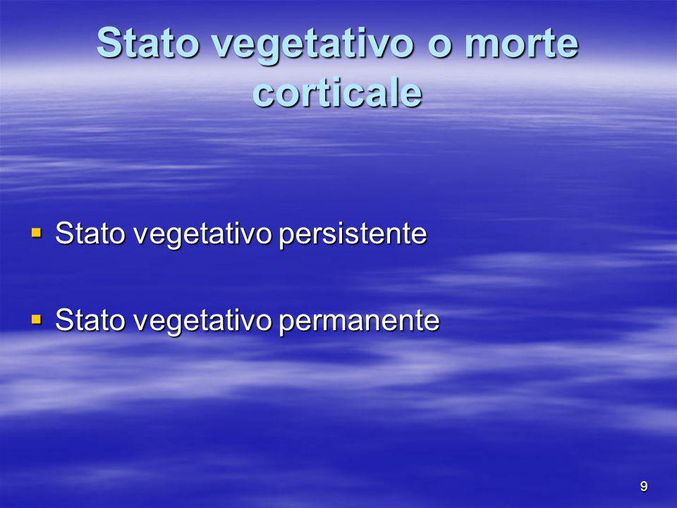 Stato vegetativo o morte corticale