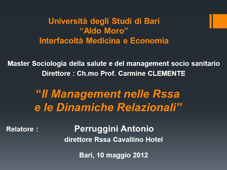 Il Management nelle Rssa
