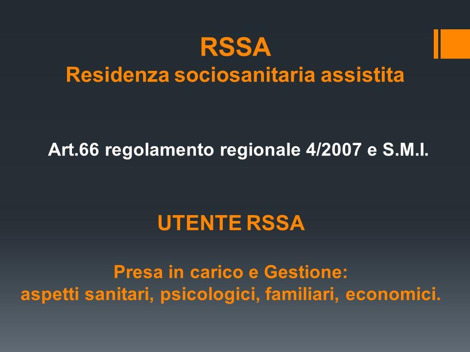 RSSA Residenza sociosanitaria assistita