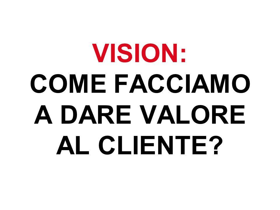 VISION: COME FACCIAMO A DARE VALORE AL CLIENTE
