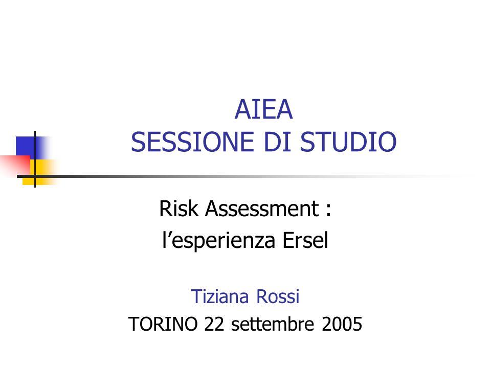 AIEA SESSIONE DI STUDIO