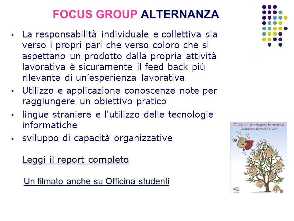 FOCUS GROUP ALTERNANZA