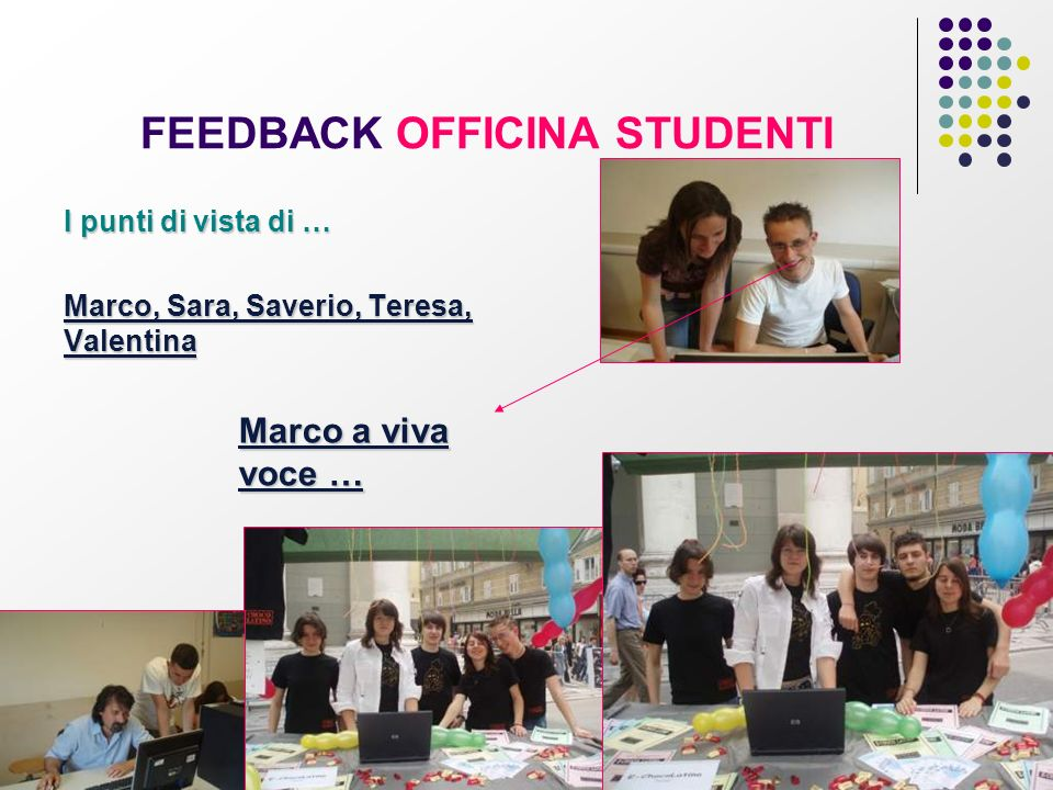 FEEDBACK OFFICINA STUDENTI