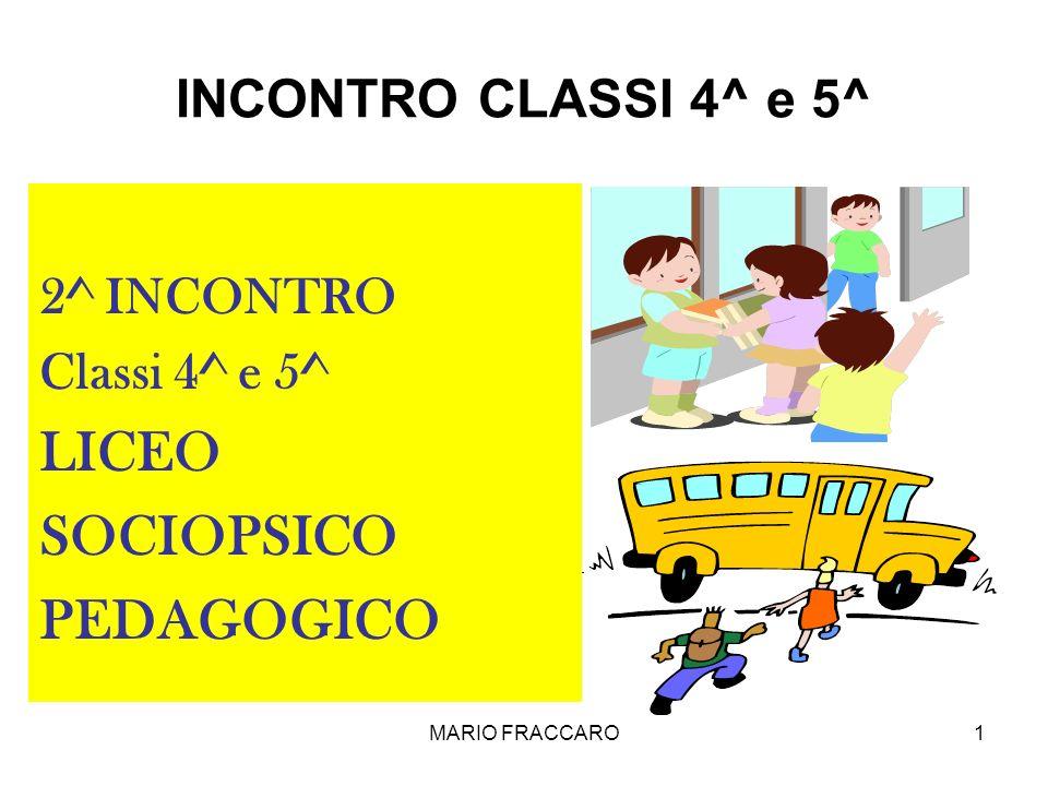 LICEO SOCIOPSICO PEDAGOGICO INCONTRO CLASSI 4^ e 5^ 2^ INCONTRO