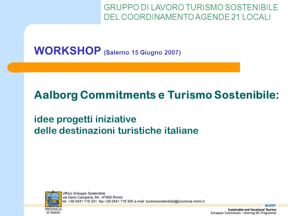 WORKSHOP (Salerno 15 Giugno 2007)