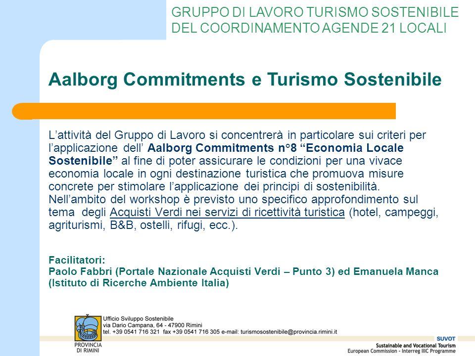 Aalborg Commitments e Turismo Sostenibile