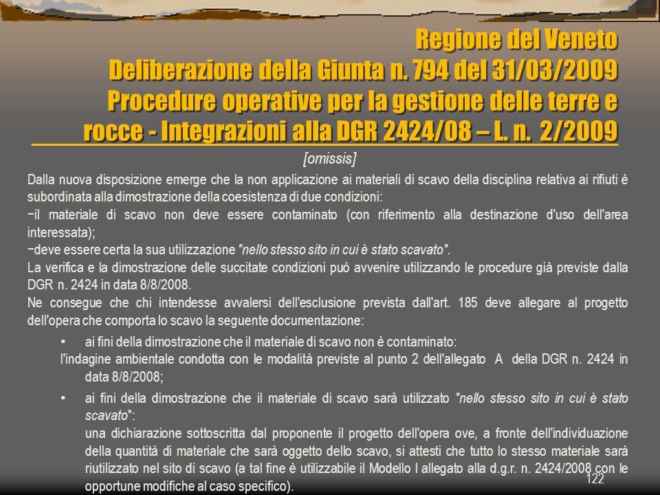 Regione del Veneto Deliberazione della Giunta n