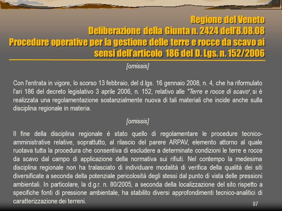 Regione del Veneto Deliberazione della Giunta n. 2424 dell'8. 08