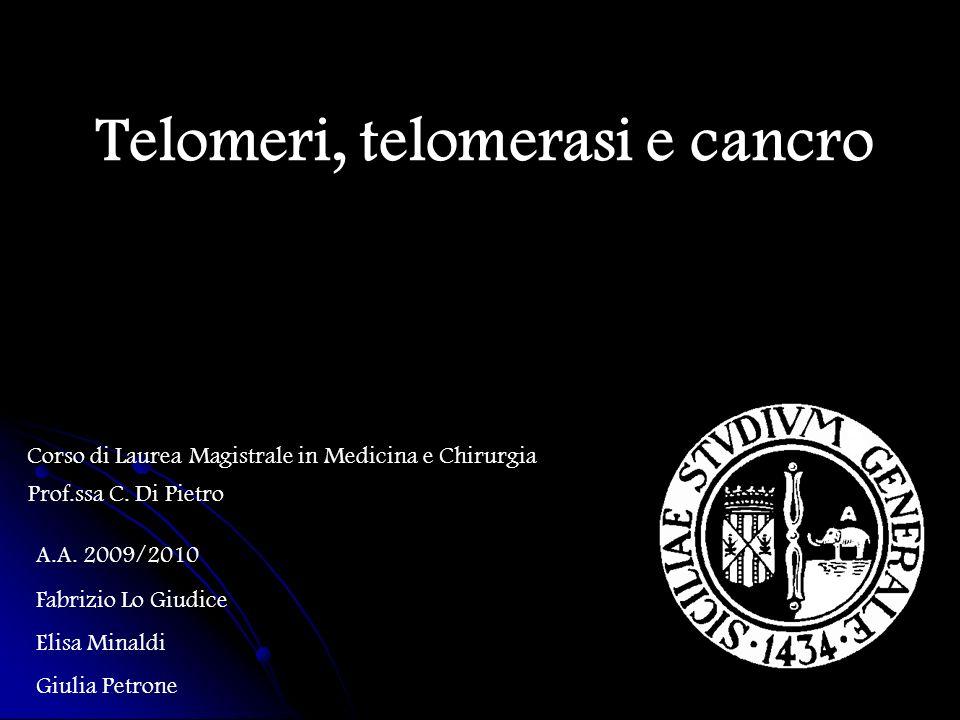 Telomeri, telomerasi e cancro