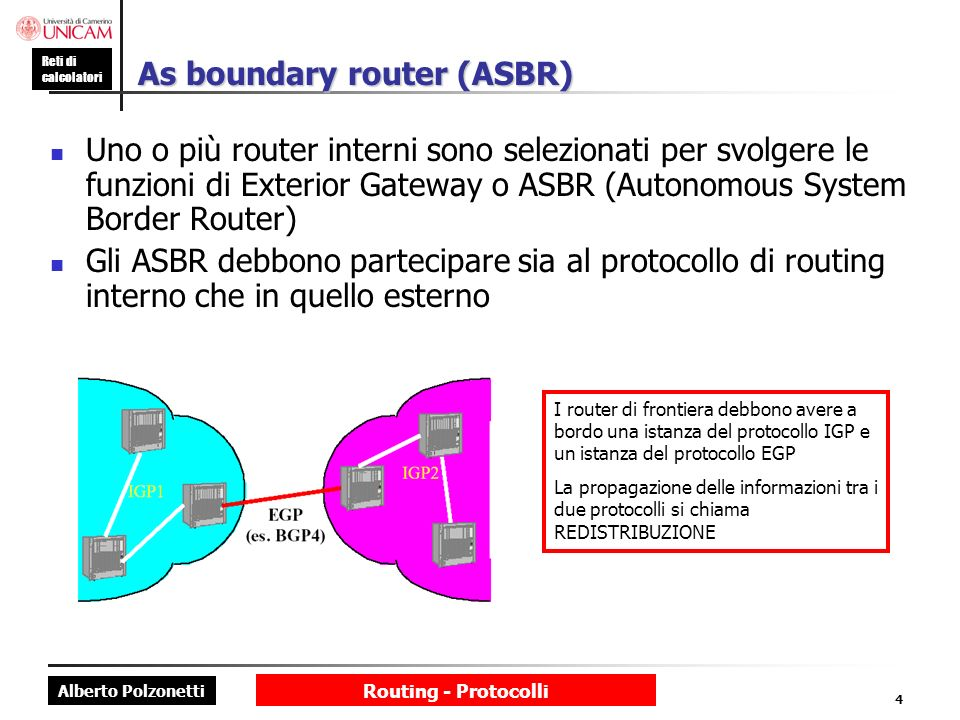 As boundary router (ASBR)