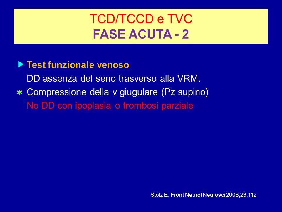 TCD/TCCD e TVC FASE ACUTA - 2