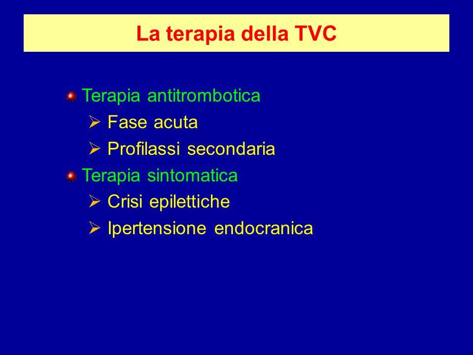 La terapia della TVC Terapia antitrombotica Fase acuta