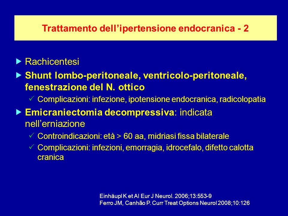 Trattamento dell'ipertensione endocranica - 2