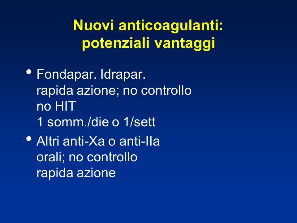 Nuovi anticoagulanti: potenziali vantaggi