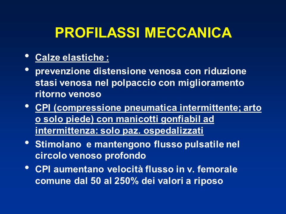 PROFILASSI MECCANICA Calze elastiche :