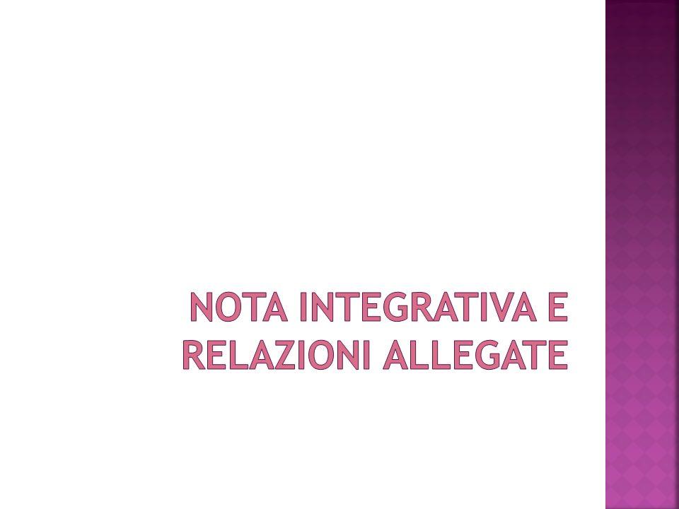 Nota integrativa e relazioni allegate