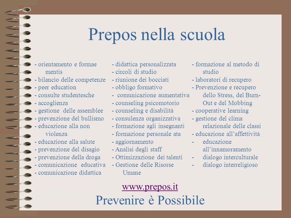 www.prepos.it Prevenire è Possibile