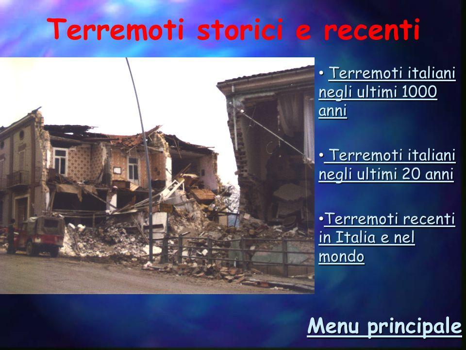 Terremoti storici e recenti