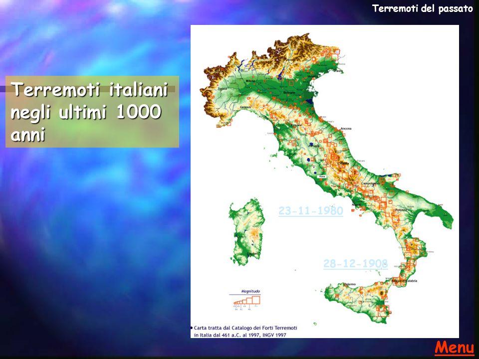 Terremoti italiani negli ultimi 1000 anni