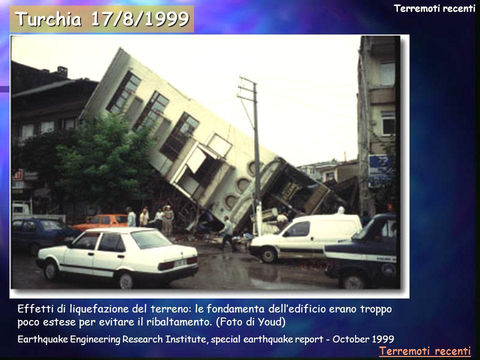 Terremoti recenti Turchia 17/8/1999.