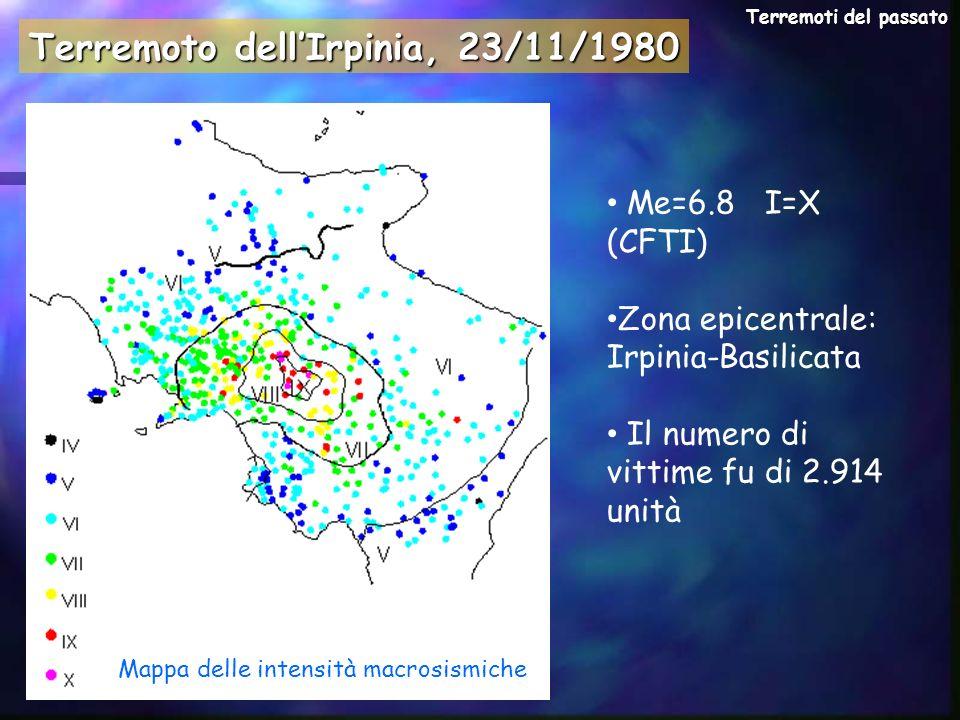 Mappa delle intensità macrosismiche