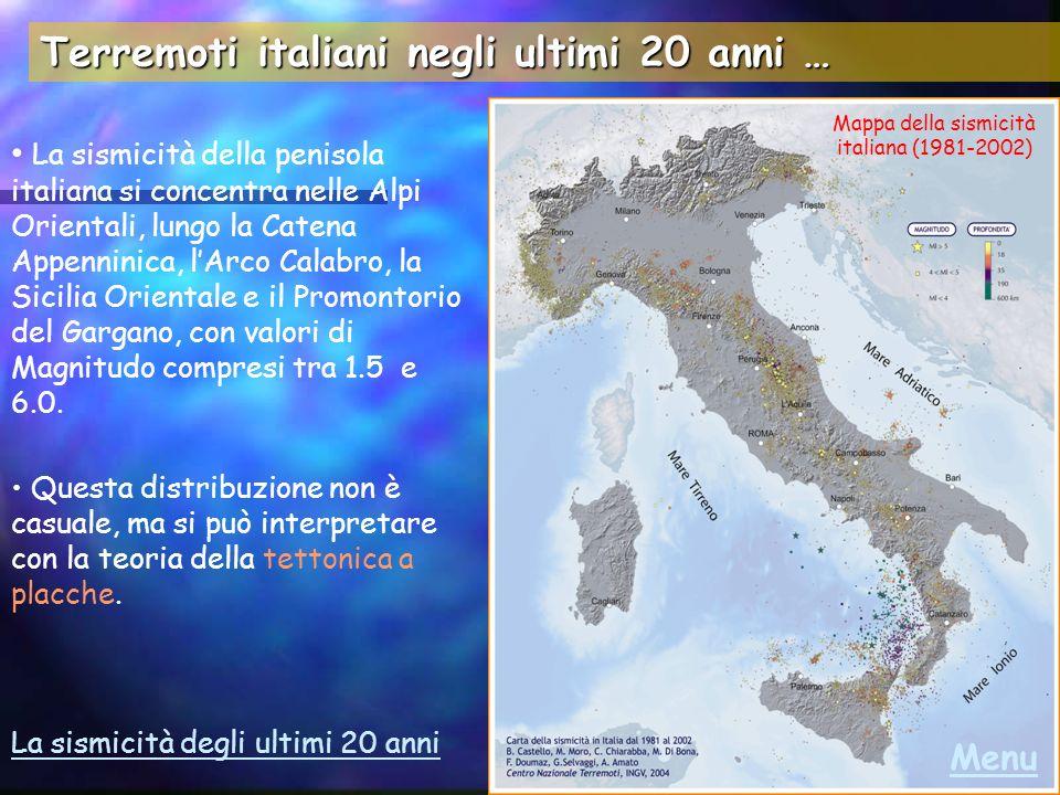 Mappa della sismicità italiana (1981-2002)