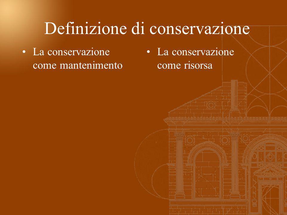 Definizione di conservazione