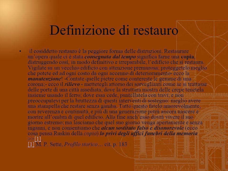 Definizione di restauro
