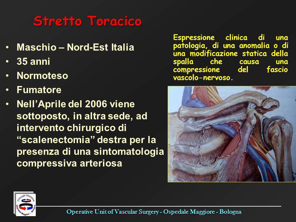 Stretto Toracico Maschio – Nord-Est Italia 35 anni Normoteso Fumatore