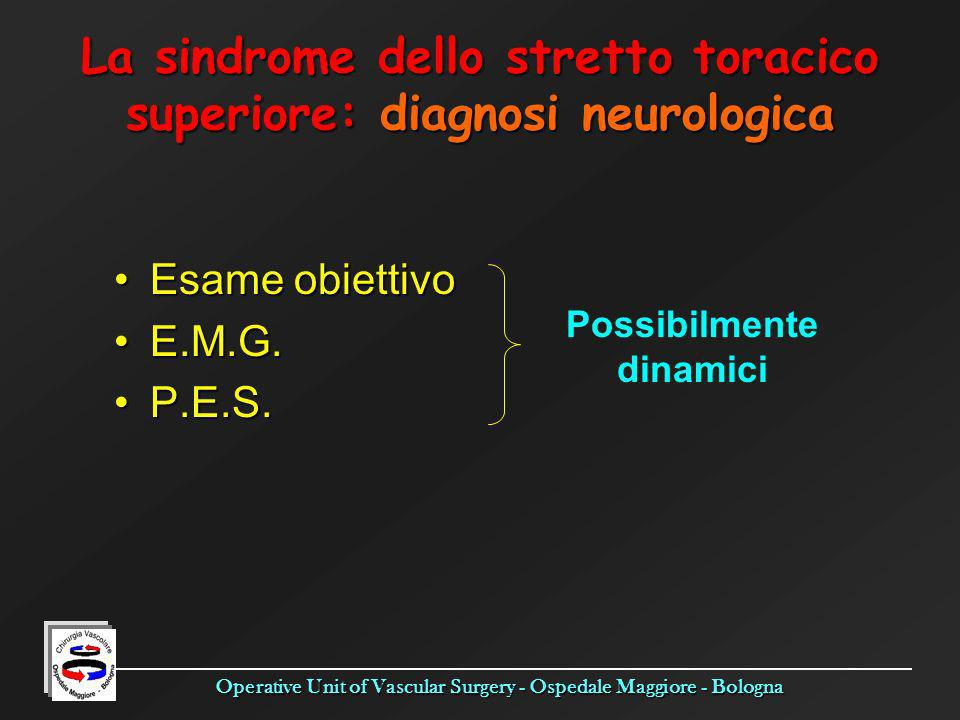 La sindrome dello stretto toracico superiore: diagnosi neurologica