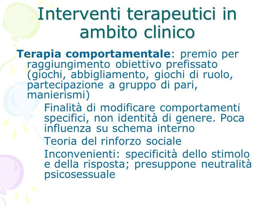 Interventi terapeutici in ambito clinico