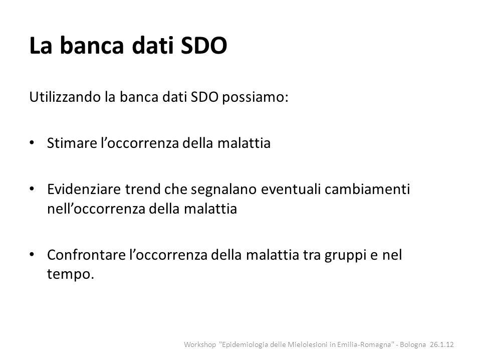 La banca dati SDO Utilizzando la banca dati SDO possiamo: