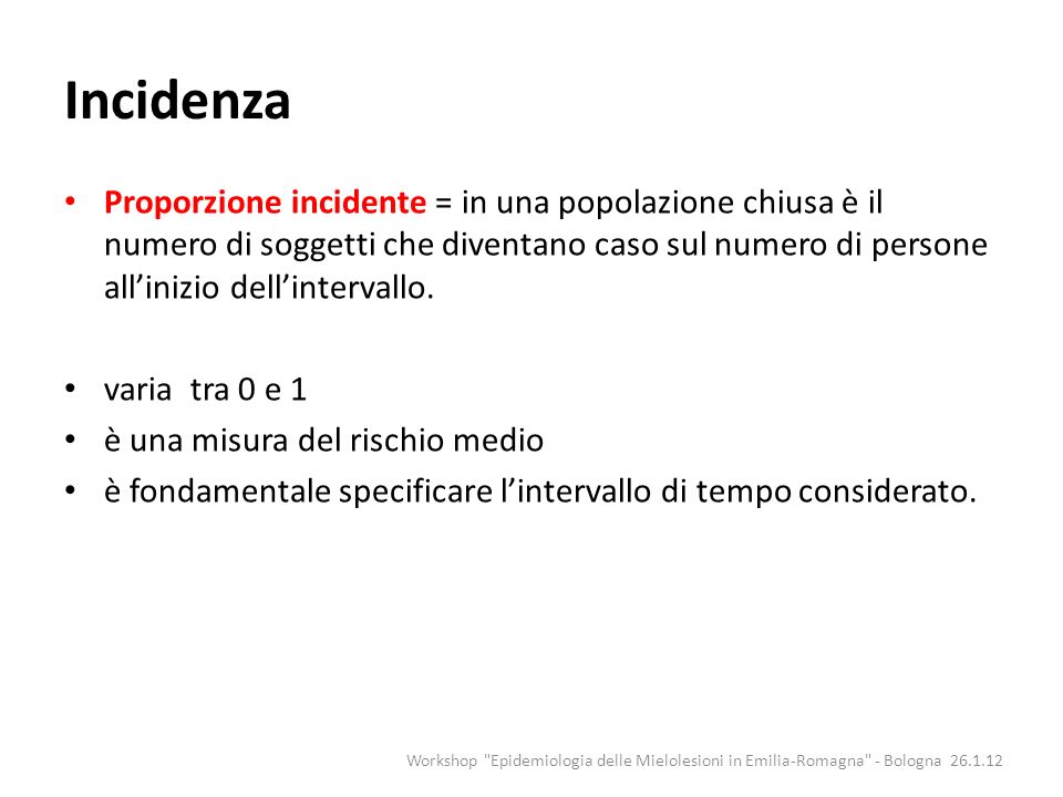 Incidenza
