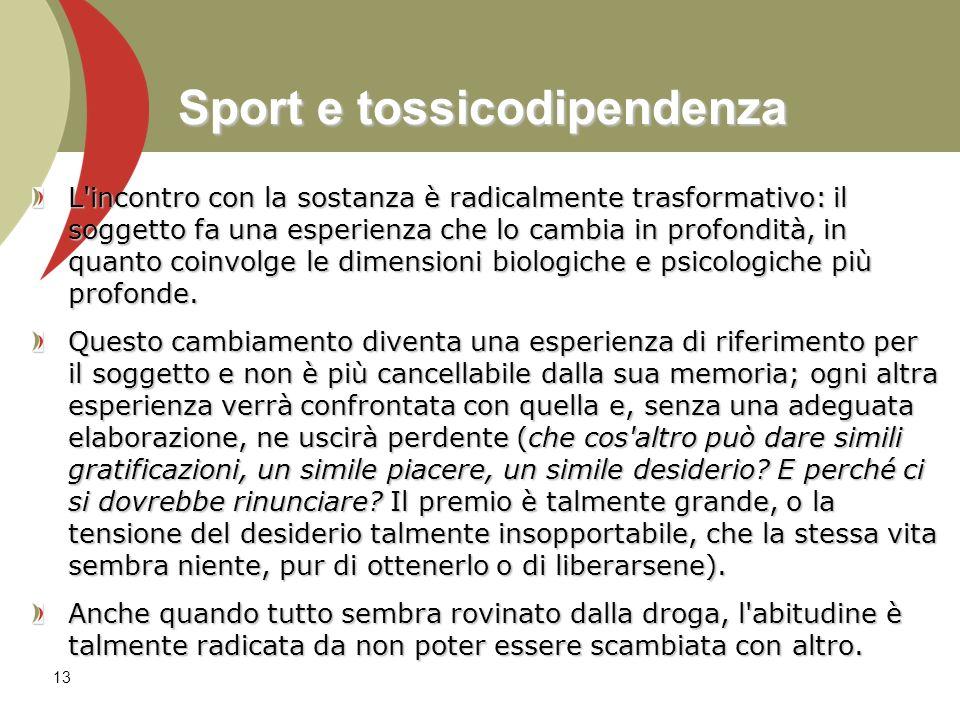Sport e tossicodipendenza