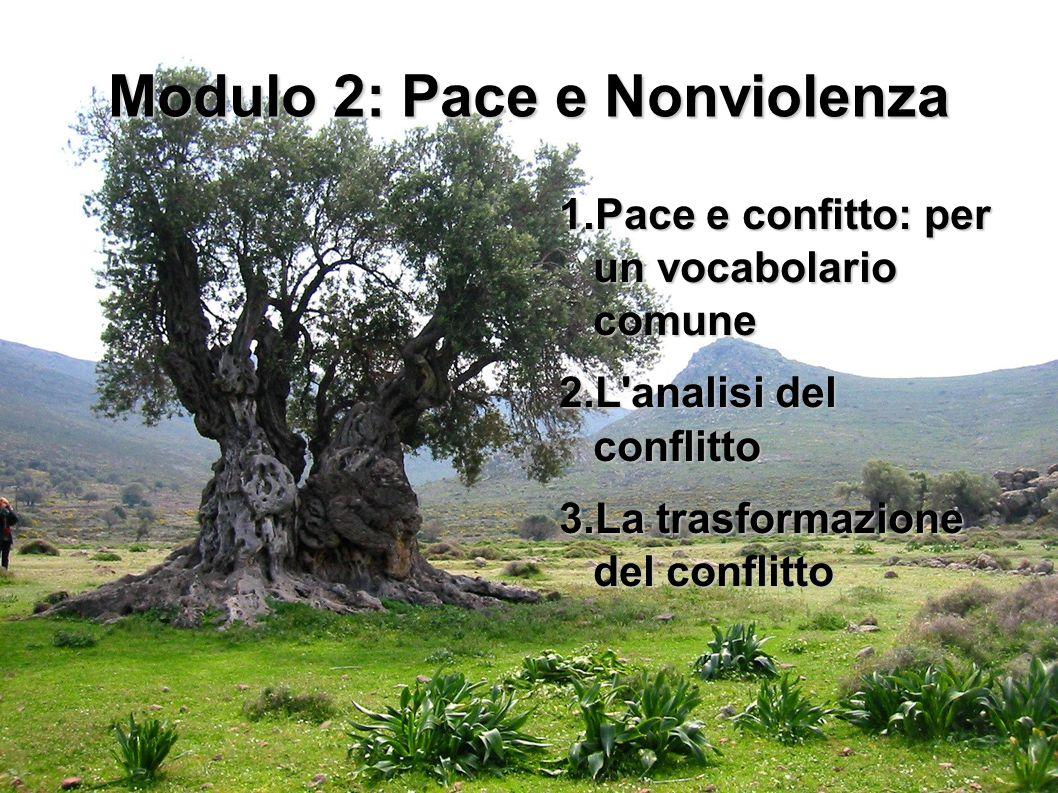 Modulo 2: Pace e Nonviolenza