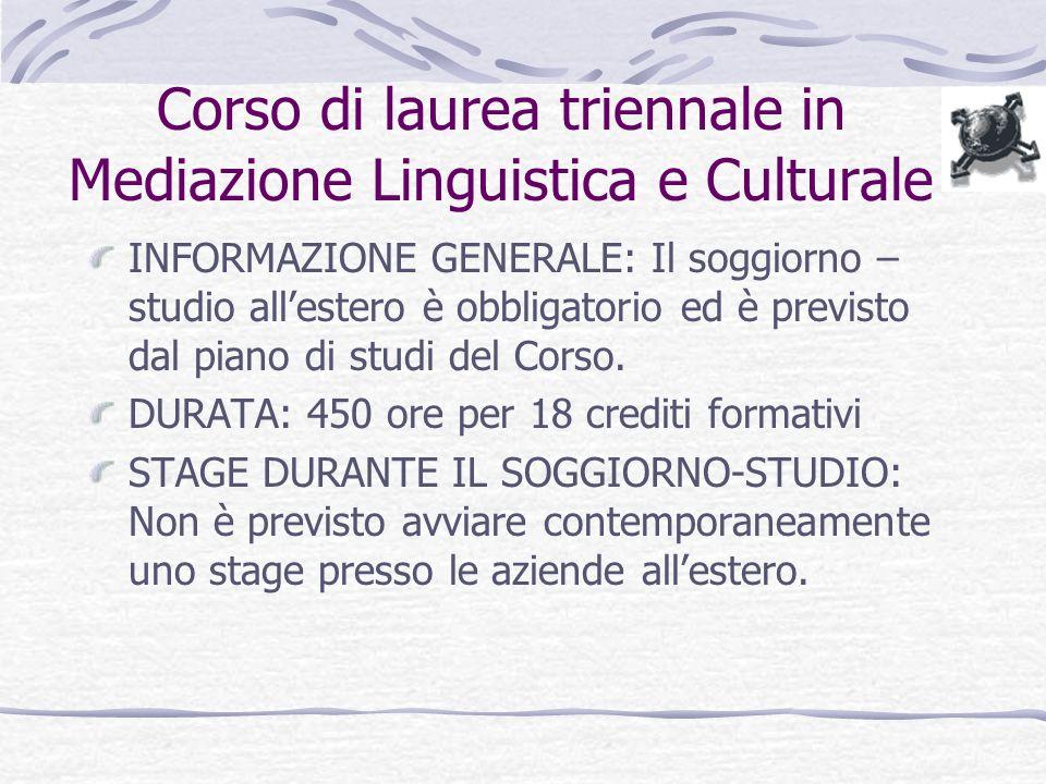 Corso Di Laurea in Mediazione Linguistica e Culturale ...
