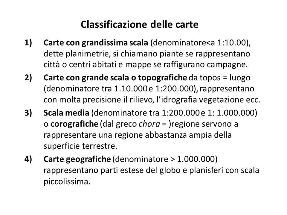 Classificazione delle carte